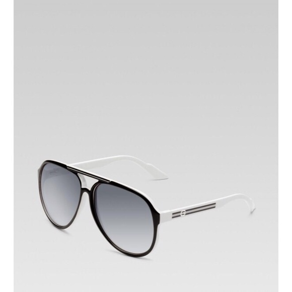 Gucci Accessories | Aviator Sunglasses White Plastic Frame | Poshmark